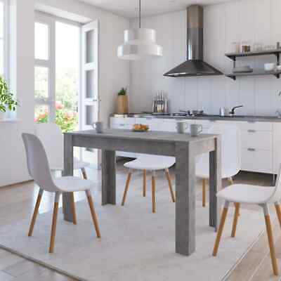 """New Dining Table Sleek Concrete Gray 47.2"""" Chipboard Home Kitchen Dinner"""