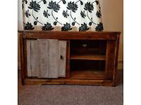 Handmade Rustic Farmhouse Country Style Shabby Chic TV Unit