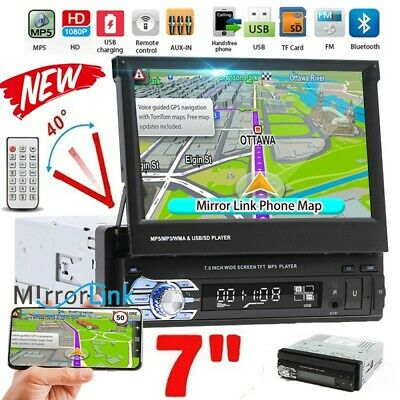 1DIN 7'' Foldable Bluetooth Pantalla táctil Radio De Coche Estéreo FM MP5 Player