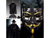 V for Vendetta Mask Anonymous Guy Fawkes Fancy Dress Fancy Costume cosplay