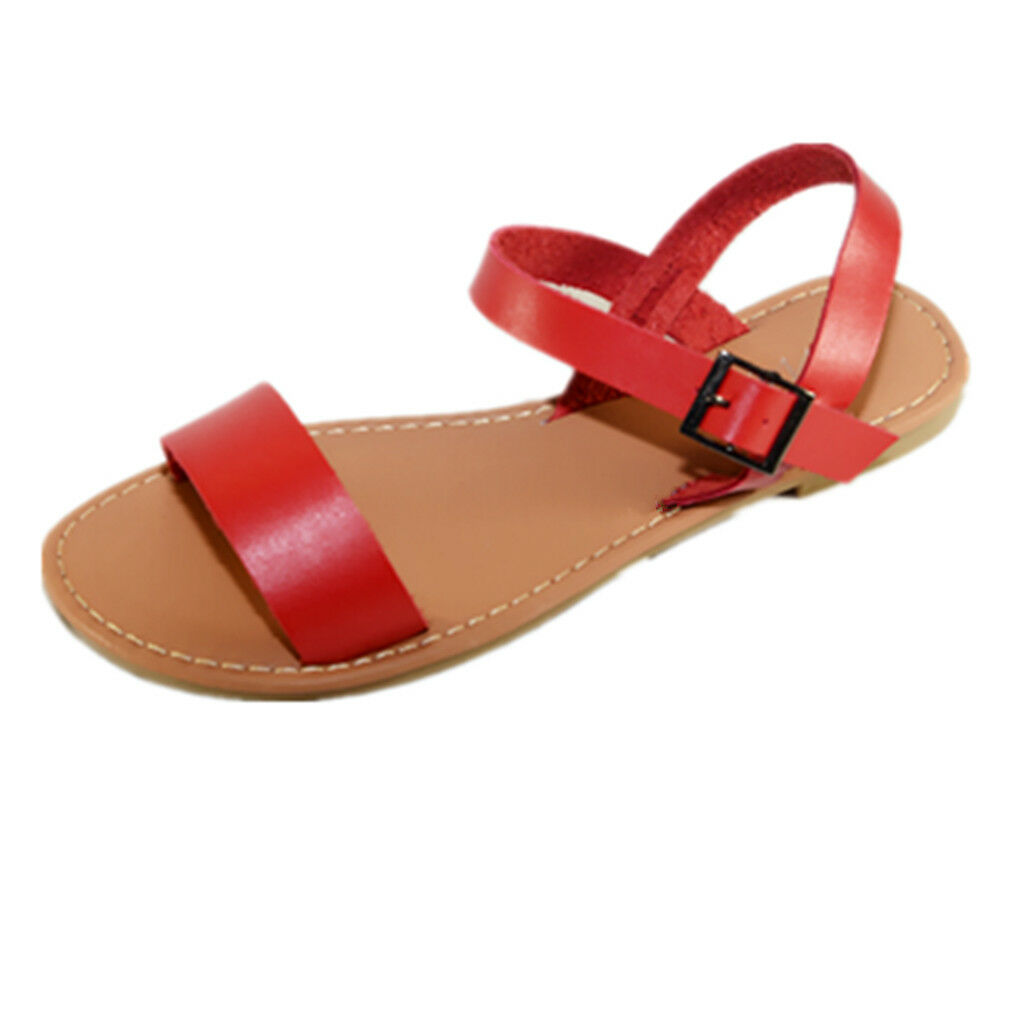 New Women Sandals Shoes Gladiator Thong Flops T Strap Flip Flat Strappy 205