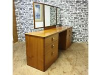 Stag Dressing Table with Matching Drawer
