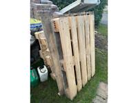 Euro pallet x3 and 2 standard pallets free to collect