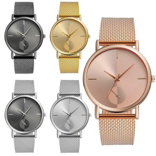 EDLE Damenuhr Herrenuhr Armbanduhr Rosé Gold Uhr Watch Quarz Mesh Luxus Edel NEU