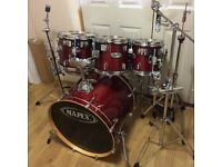 Fully Refurbished Red Lacquer Mapex M Series Drum Kit // 6 Piece // Free Local Delivery