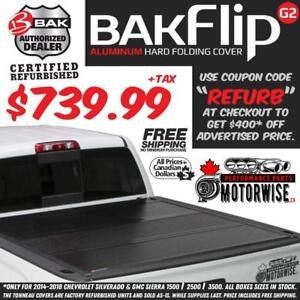 BAKFlip 58 G2 Hard Folding Tonneau Cover for 2014-2018 Silverado and Sierra 1500 | Save $400 | Factory Refurbished