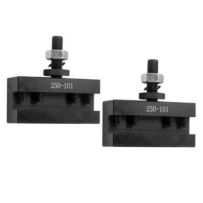 2x Durable Quick Change Tool Post Holder Turning And Facing Lathe Tool 250-101