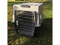 Dog crate for transportation, shipping, for use in the car, planes, boats, sturdy, made by Ferplast