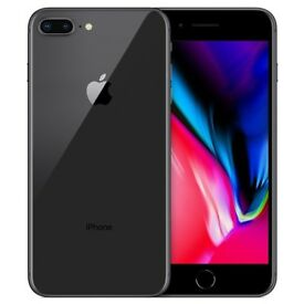 iPhone 8 plus space grey 64 gb unlocked to any network