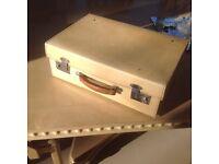 Lovely vellum vintage suitcase