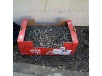 free box of decorative stones for garden or path