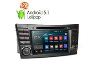 "Mercedes-Benz 8""Inch Hd internet Dvd Stereo Gps Android Sat naw 4G For -Benz E/CLS/G Class W211"