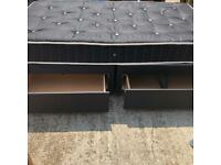 Large single divan bed and mattress