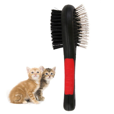 Double Sided Pet Brush Dog Cat Animal Hair Grooming Fur Shedding Clean Comb