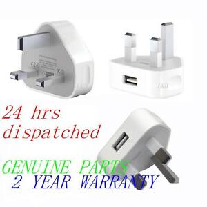 USB to Mains Charger Wall Adaptor Plug For Apple Iphone 4S 5 4G 3G 3GS IPOD