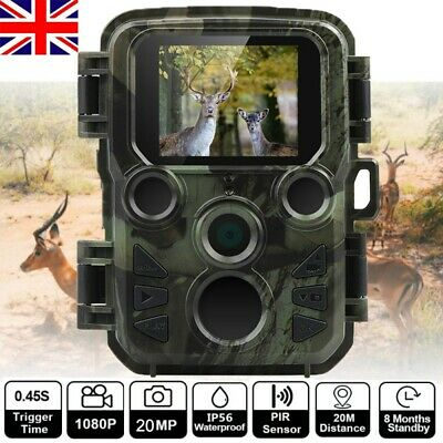 WATERPROOF 20MP Hunting Camera 1080P Trail Scouting IR Night Vision Wildlife Cam