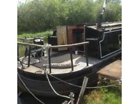 Black Wide beam Canal Boat 10ft x 57ft
