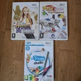 WII Games - U Draw/Hannah Montana/Petz Sports
