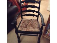 Single occasional priory Carver chair, ideal for bedroom or hallway