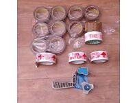 10 Rolls of 66m x50mm 3 M Packing Tape~ 4 Rolls of This Way up Tape~ Tape Gun Dispenser