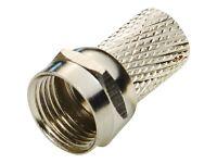 F Plug Connector Satellite RG6 Virgin SKY TV Screw Twist Coax Cable Aerial