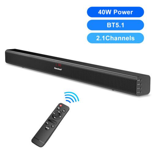 40W Sound Bar Speaker System Wireless BT Subwoofer Stereo TV