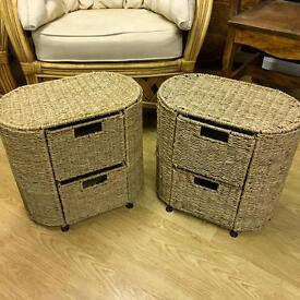 Seagrass drawer sets side tables