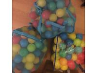 3 bags of play balls.