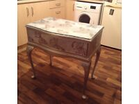 SILVER DRESSING TABLE IN EXCELLENT CONDITION FREE LOCAL DELIVERY AVAILABLE
