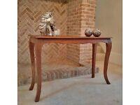 Beautiful Mango Wood Console Table - As New