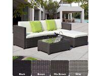 Luxury Rattan Outdoor Garden Conservatory Corner Sofa