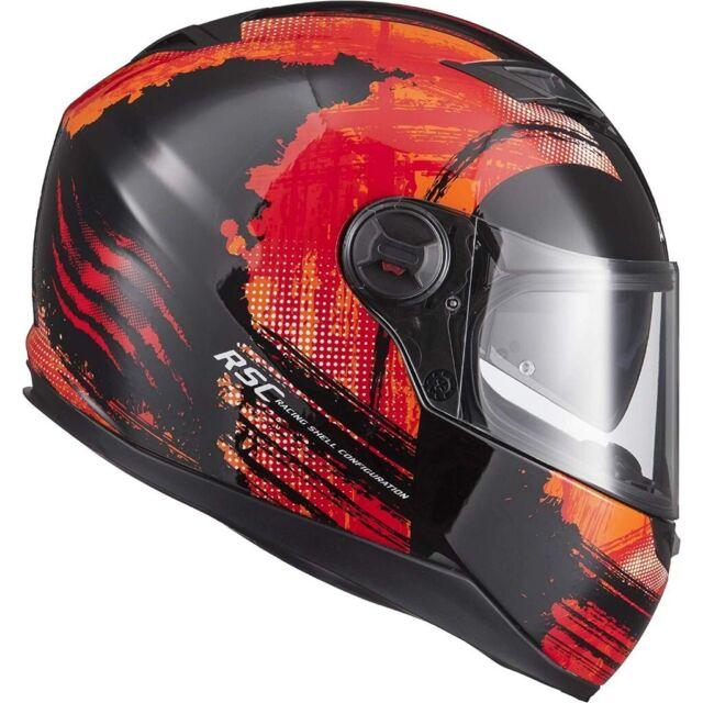 Agrius Rage SV Claw Motorcycle Helmet L Gloss Black//Fluro Orange