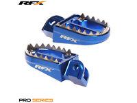 Blue Shark Teeth Wide Pegs YZ YZF 85 125 250 450 Footpegs Gas Gas EC 125 250 300