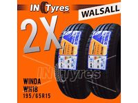 2x New 195/65R15 BUDGET Tyres 195 65 15 Tyres Fitting Available x2