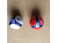 England Motif and Colours Mini Footballs Red & White All New