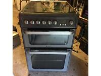 HOTPOINT ULTIMA GAS COOKER DOUBLE OVEN COST £500 UNDER 2 YEARS OLD £110