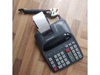 Professional book-keeping adding machine calculator