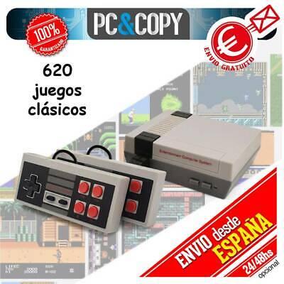 S1412 CONSOLA RETRO CON MANDOS NES CLASICA CON 620 JUEGOS ARCADE CLASICOS