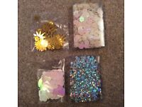 Bags of crafting sequins