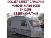 6 berth sprite major caravan +full awning