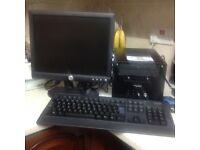 COMPUTER MINI SHUTTLE INTEL CORE 2, 2.6GHZ, 160GB WINDOWS 7 15INCH TFT SCREEN KEYBOARD MOUSE ALL LEA