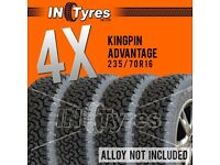 4x 235/70R16 Kingpin Advantage 4x4 Tyres Four 235 70 16 All Terrain AT
