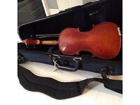 1/4 size Gill-Student violin, bow and case