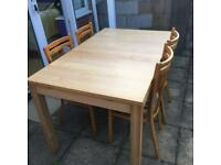 Dining table with 4 chairs ( IKEA)
