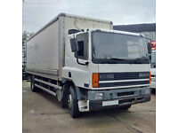 DAF CF65.240 4x2 18 Ton box lorry with tail lift. Manual injector pump.
