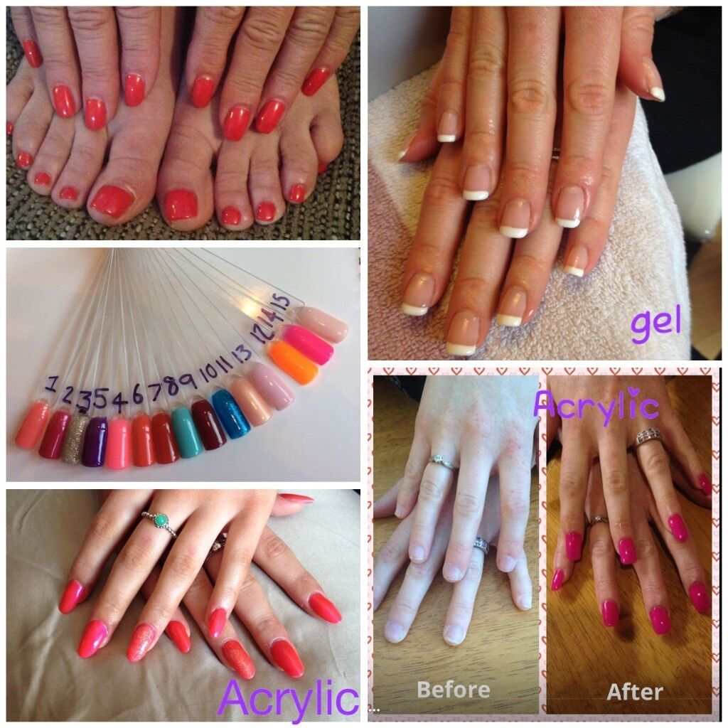 Gel or acrylic nail extensions