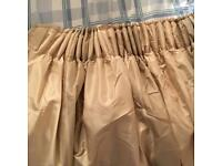 Gold lined heavy curtains