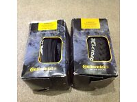 Two Continental x-king 2.2/26x2.2 inner tubes