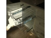 Pull out wire cabinet racks