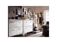 Ikea furniture includes shoe storage cd rack wardrobes bookshelves lamp TVs unit